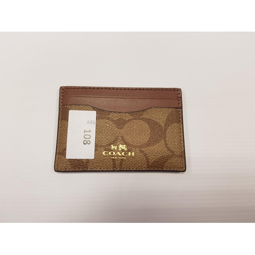108 - COACH CARD HOLDER hold 4 cards....