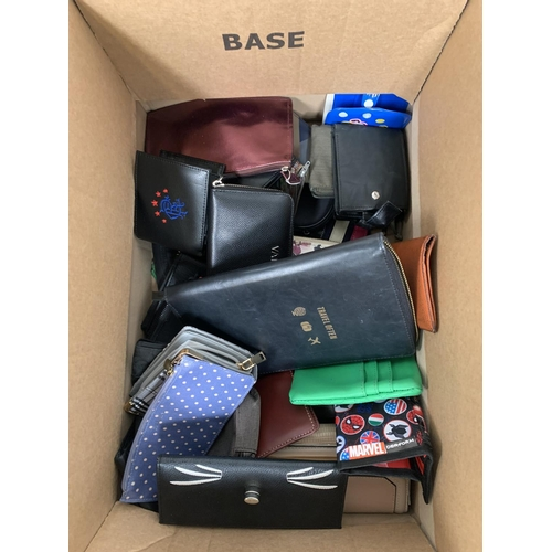 22 - ONE BOX OF PURSES AND WALLETS branded and unbranded...