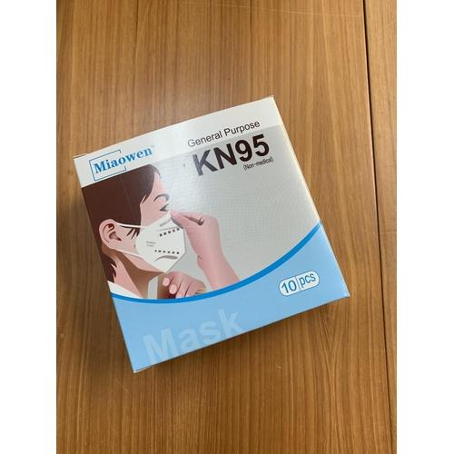 47 - ONE BOX OF TEN MIAOWEN KN95 PROTECTIVE FACE MASKS...