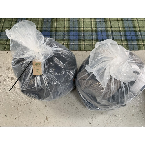 5 - TWO BAGS OF GENTS CLOTHING ITEMS including Ted Baker, North face, Super Dry, Fat Face, Cropp, and Ma...