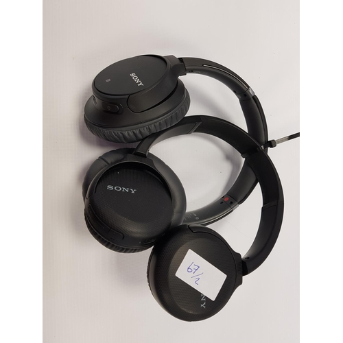 67 - SONY WH-CH700N NOISE CANCELLING  WIRELESS BLUETOOTH HEADPHONES together with Sony WH-C510 wireless h...