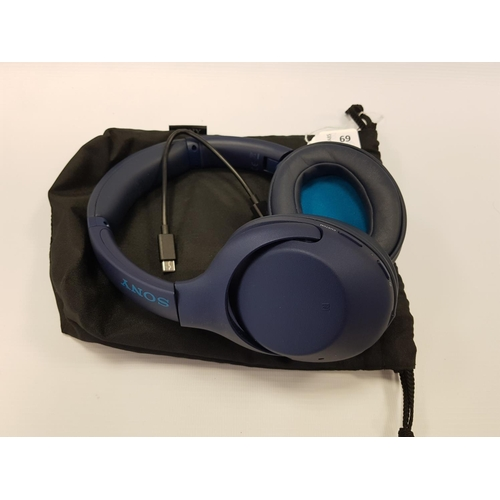 69 - SONY WH-XB900N WIRELESS BLUETOOTH HEADPHONES with original carry bag....
