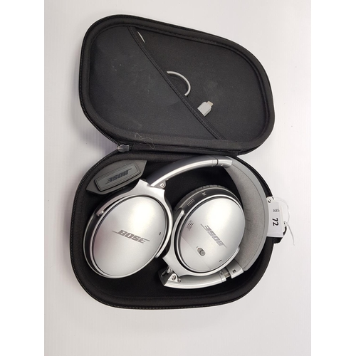 72 - BOSE QUIETCOMFORT NOISE CANCELLING QC35 II OVER-EAR WIRELESS BLUETOOTH HEADPHONES in original case....