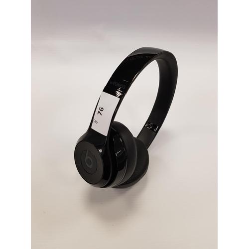 76 - BEATS BY DR. DRE SOLO3 ON-EAR WIRELESS HEADPHONES...