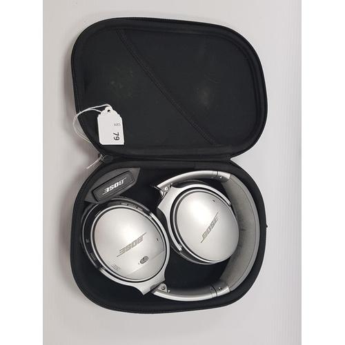 79 - BOSE QUIETCOMFORT NOISE CANCELLING QC35 II OVER-EAR WIRELESS BLUETOOTH HEADPHONES in original case....