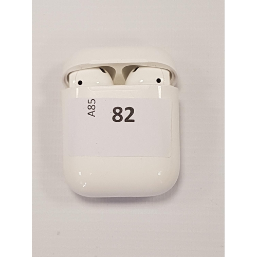 82 - APPLE AIRPODS IN-EAR WIRELESS BLUETOOTH HEADPHONES 2nd generation airpods model - A2032 in lightenin...