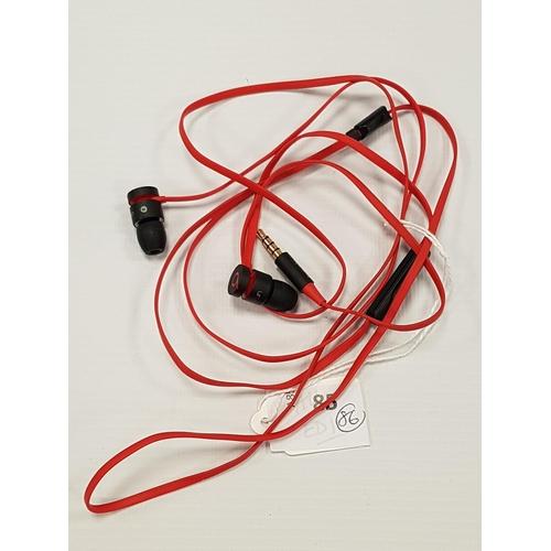 86 - BEATS BY DR. DRE URBEATS IN-EAR HEADPHONES...