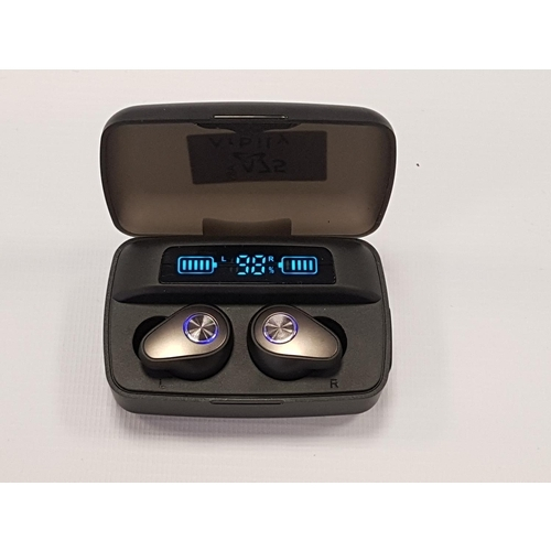 75 - ARBILY BLUETOOTH 5.0 WIRELESS EARBUDS WITH LED DISPLAY  in charging case....
