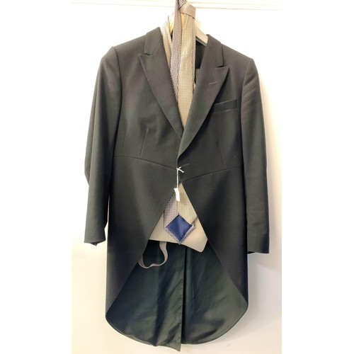 399 - GENTLEMAN'S EVENING SUIT AND A MORNING SUIT the evening suit comprising a jacket and trousers, both ...