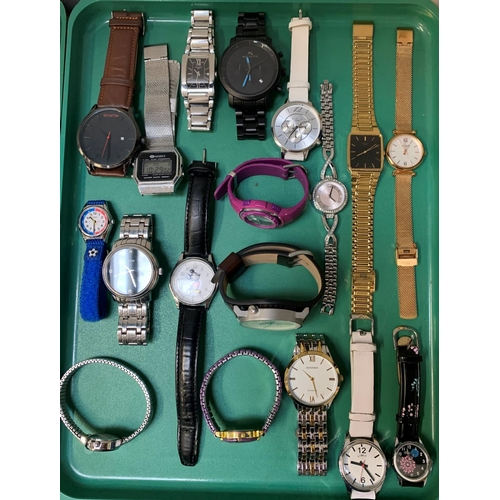 33 - SELECTION OF LADIES AND GENTLEMEN'S WRISTWATCHES including Tissot, Megalith, Fossil, Casio, Guess, L...