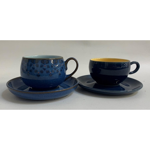 222 - SELECTION OF DENBY including six cups and saucers, sugar bowl and six egg cups, in the Cottage Blue ...