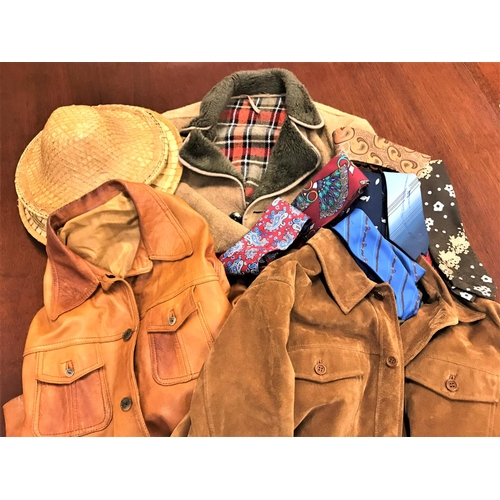 402A - WALLACE SACK LONDON JACKET together with a brown leather jacket, ladies wool jacket, selection of ti...