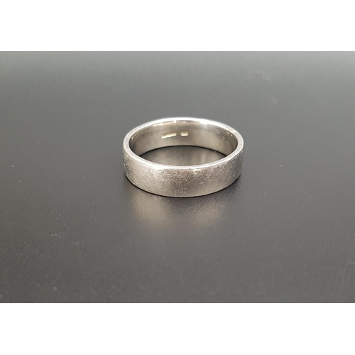 2 - PLATINUM WEDDING BAND ring size S and approximately 11.4 grams...