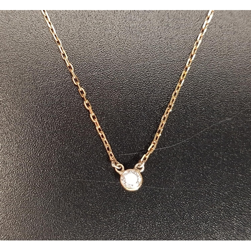37 - DIAMOND SET NECKLACE the solitaire diamond approximately 0.1cts, on eighteen carat gold chain, total...