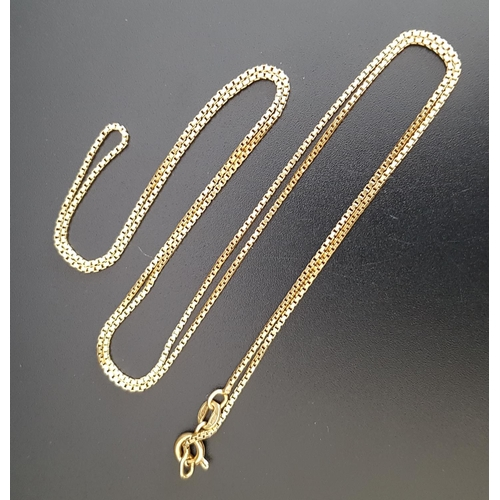 41 - EIGHTEEN CARAT GOLD NECK CHAIN 66cm long and approximately 6 grams...