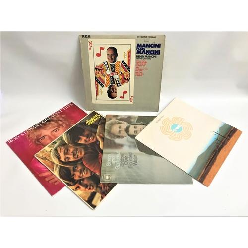 415 - SELECTION OF VINYL LP RECORDS AND 45s including John Denver, The Monkees, John Lennon, Elvis, Simon ...