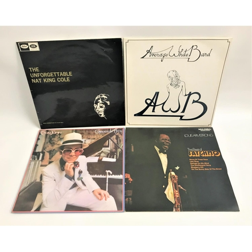416 - SELECTION OF VINYL LP RECORDS AND 45s including Elton John, Louis Armstrong, James Last, Henry Manci...