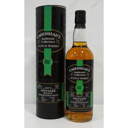 674 - CONVALMORE-GLENLIVET 1977 - CADENHEAD'S  Bottled by Cadenhead's as part of their Authentic Collectio...
