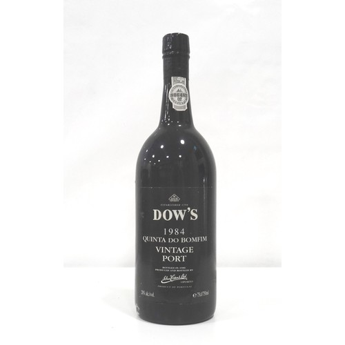 681 - DOW'S QUINTA DO BOMFIM 1984 VINTAGE PORT A bottle of vintage port from the finest estate in the Dow'...