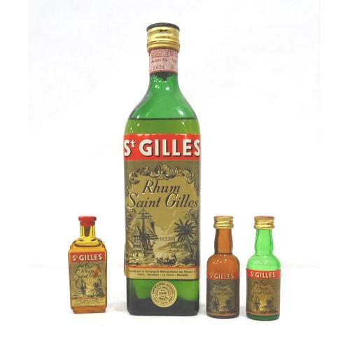 682 - RHUM ST. GILLES CIRCA 1960s A good bottle of vintage Rhum St. Gilles from the French Antilles, bottl...
