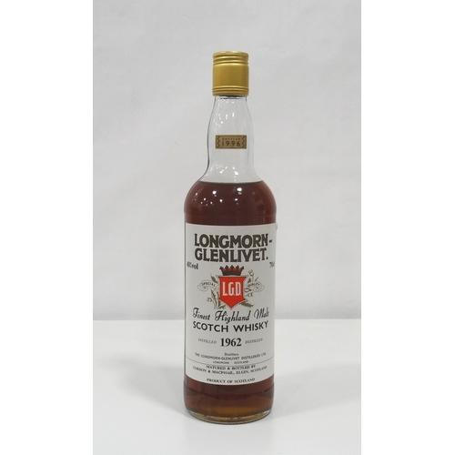 685 - LONGMORN-GLENLIVET 1962  A beautifully rich-looking bottle of the Longmorn-Glenlivet 1962 Vintage bo...