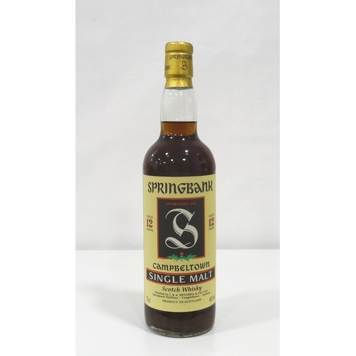 686 - SPRINGBANK 12YO - 1990s A lovely example of the dark and rich looking bottle of Springbank 12 Year O...