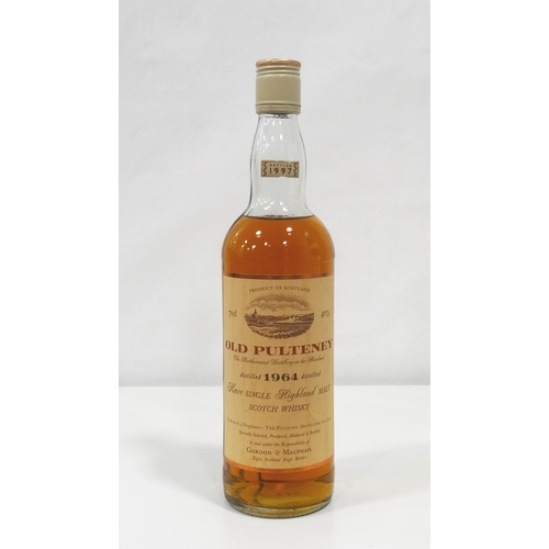 687 - OLD PULTENEY 1964 - G&M A nice and rare bottle of Old Pulteney 1964 Vintage Single Malt Scotch Whisk...