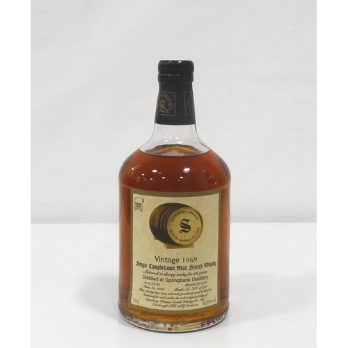 688 - SPRINGBANK 1969 - SIGNATORY A wonderful bottle of the Sherry Cask matured Springbank 1969 Vintage Si...