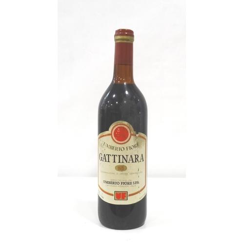 696 - GATTINARA UMBERTO FIORI 1975 A bottle of Gattinara 1975 Vintage from Piemonte.  75cl.  12.5% abv.  L...