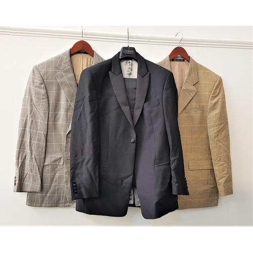 67 - TWO GENTLEMEN'S DAKS SPORTS JACKETS comprising a houndstooth example, 40R; and tweed example, 40R; t...