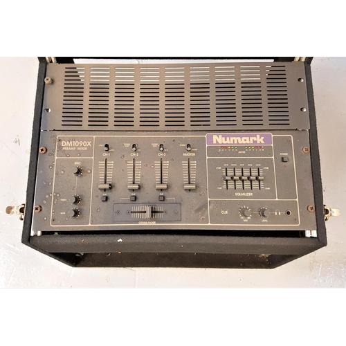 81 - NUMARK DM1090X PREAMP MIXER in felt covered box...