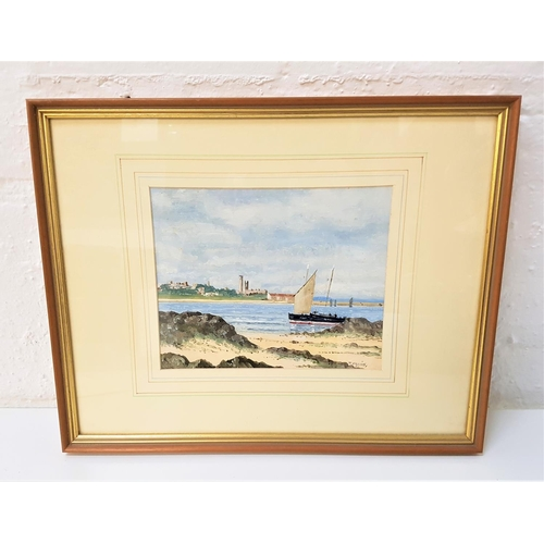 106 - TOM HIGGINS St. Andrews, oil on card, signed and with label to verso, 18.5cm x 23cm...
