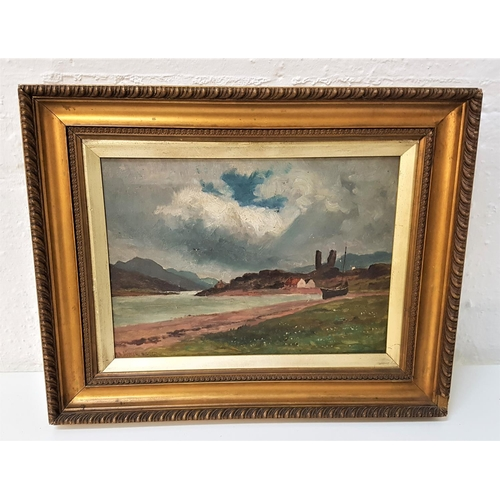 107 - JAMES ALFRED AITKEN RSW (1846-1897) Castle Moil, Skye, oil on canvas, signed and signed to verso, 23...