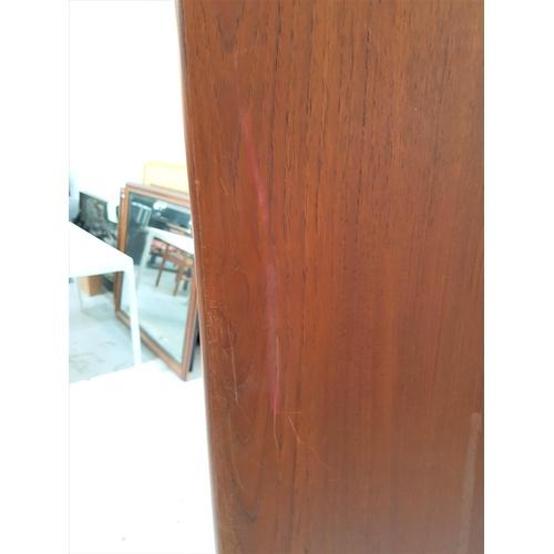 142 - RETRO G PLAN FRESCO TEAK WARDROBE  mid 20th century, having twin doors with lipped and recessed hand...
