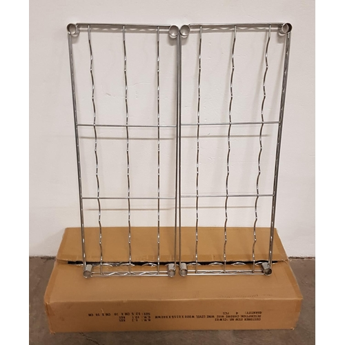 10 - SIX CHROME WIRE WINE SHELVES for commercial racking units, all 91cm x 35.5cm, with a selection of fi...