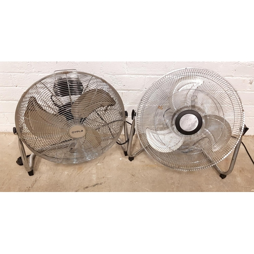 153 - TWO METAL TABLE TOP FANS one by Opus and one Challenge