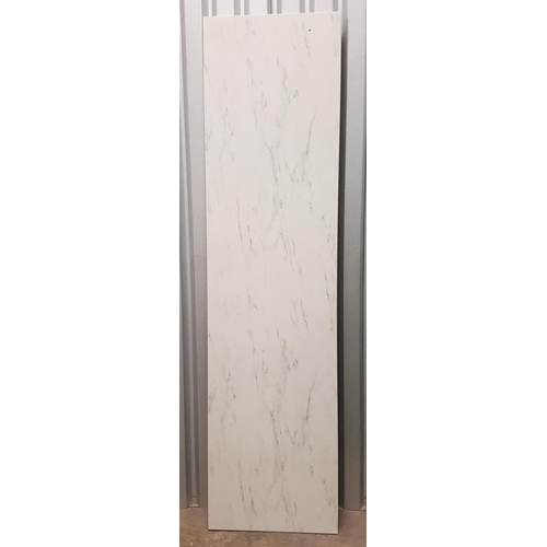 67 - SECTION OF MARBLE EFFECT COUNTER TOP 250cm x 63.5cm...