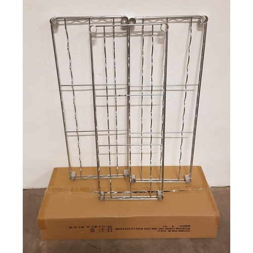 7 - SEVEN CHROME WIRE WINE SHELVES for commercial racking units, all 91cm x 35.5cm, with a selection of ...