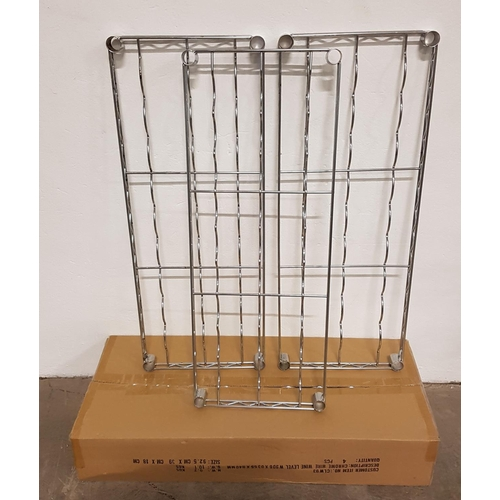 8 - SIX CHROME WIRE WINE SHELVES for commercial racking units, all 91cm x 35.5cm, with a selection of fi...