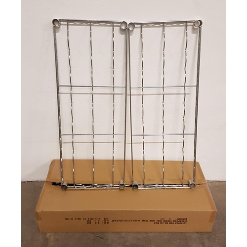 9 - SIX CHROME WIRE WINE SHELVES for commercial racking units, all 91cm x 35.5cm, with a selection of fi...