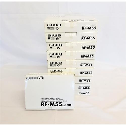 192 - TEN AIWA RF-M55 STEREO CAR RF MODULATOR UNIT...
