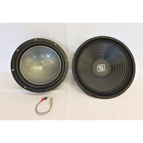 196 - KENWOOD KFC-W3011 SPEAKER together with a Skytec speaker, Kenwood 27cm and Skytec - 35cm