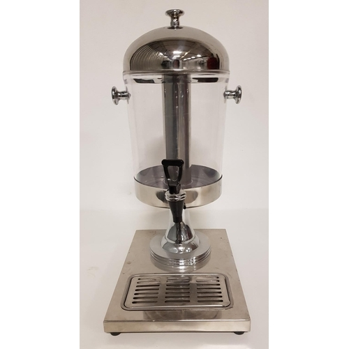 24 - STAINLESS STEEL AND PERSPEX JUICE DISPENSER with removable drip tray...