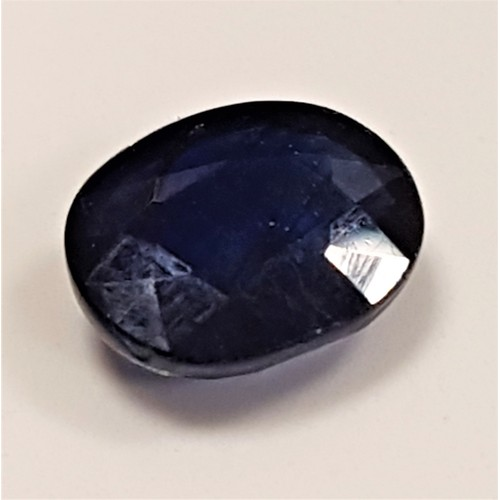 12 - CERTIFIED LOOSE NATURAL SAPPHIRE the oval cut blue sapphire weighing 7.54cts, with IDT certificate...