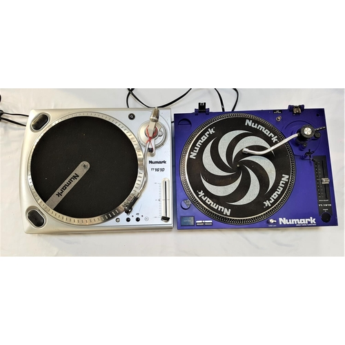 372 - NUMARK TT-1910 DIRECT DRIVE TURNTABLE in purple; together with a Numark TT 1610 manual turntable in ...