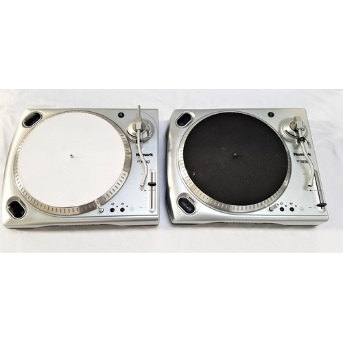 386 - TWO NUMARK TT1650 PROFESSIONAL TURNTABLES in silver and with boxes