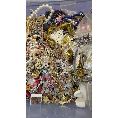 20 - LARGE SELECTION OF COSTUME JEWELLERY including simulated pearls, crystal and other bead necklaces, b...