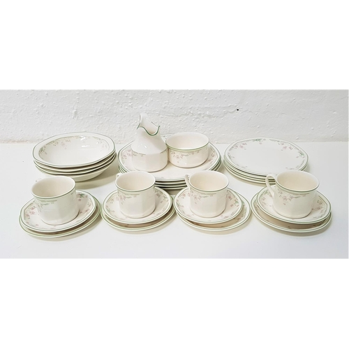 277 - ROYAL DOULTON 'CAPRICE' COFFEE AND DINNER SERVICE comprising four bowls, entree plates, dinner plate...