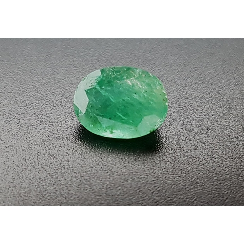 153 - CERTIFIED LOOSE NATURAL EMERALD the oval cut gemstone weighing 2.77cts, with ITLGR Gemstone Report...