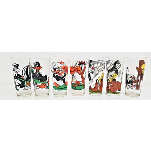 216 - SEVEN WARNER BROS. PEPSI COLLECTOR SERIES GLASSES all dates 1976, comprising 2x Daffy Duck and the T...